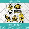 Iowa Hawkeyes Svg Bundle, School Mascot svg, sports spirit svg, Team Logos, Clipart, Png, Cricut