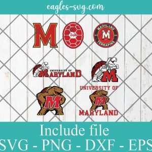 Maryland Terrapins Svg Bundle, School Mascot svg, sports spirit svg, Team Logos, Clipart, Png, Cricut