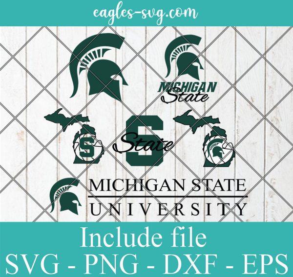 Michigan State University Svg Bundle, School Mascot svg, Spartans SVG, Team Logos, Clipart, Png, Cricut