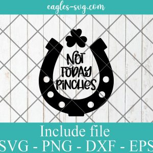 Not Today Pinches SVG, St Patricks Day svg, Lucky svg, Irish svg, Pinch Proof Svg Png, Cricut, Silhouette Cut Files