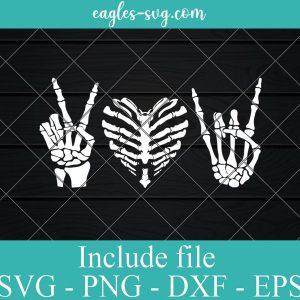 Peace Love Rock and Roll Skeleton SVG, Xray SVG, Radiology SVG, Radiology Tech