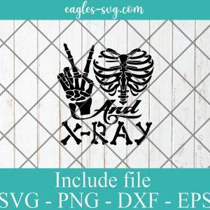 Peace Love Xray SVG, Radiology Tech Digital Cut File for Silhouette or Cricut
