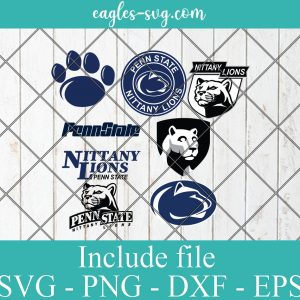 Penn State Nittany Lions Svg Bundle, School Mascot svg, sports spirit svg, Team Logos, Clipart, Png, Cricut