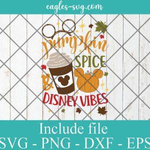 Pumpkin Spice Vibes Mickey Svg, Mickey Thanksgiving Svg, Autumns Leaves SVG, Turkey Day svg, Fall SVG