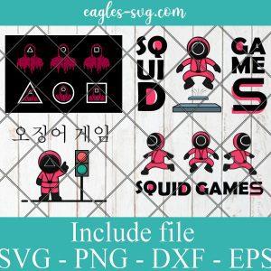 Squid Game Svg Bundle, Squid Game Clipart,Squid Game designs, Squid Game cut files For cricut , eps vector digital