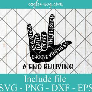Unity Day Orange Kids 2021 Anti Bullying Love Sign Language svg Png, Cricut, Silhouette Cut Files