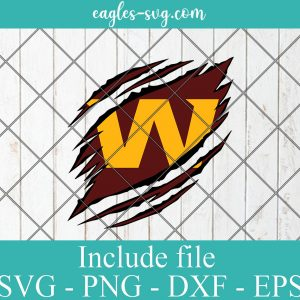 Washington Football Team Ripped Claw svg, Clipart, Logo, png, Svg File For Cricut