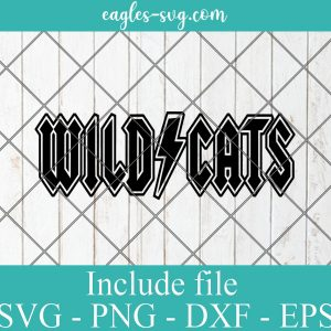 Wildcats rock and roll Svg, Kentucky Wildcats ACDC Svg, Vinyl Cut File for Silhouette or Cricut