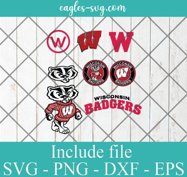 Wisconsin Badgers Svg Bundle, School Mascot svg, sports spirit svg, Logo, Clipart, Png, Cricut