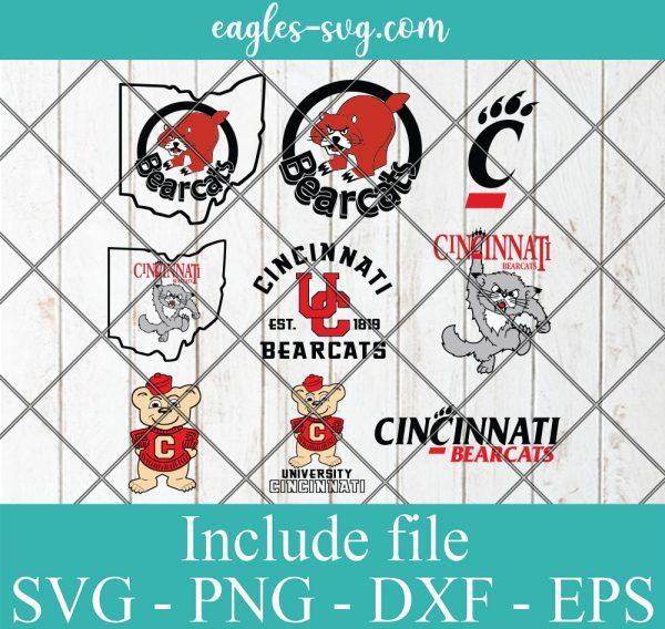 Cincinnati Bearcats Svg Bundle, School Mascot svg, sports spirit svg, Team Logos, Clipart, Png, Cricut