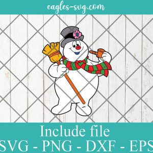 Frosty The Snowman Svg Png, Cricut, Silhouette Cut Files, Layered