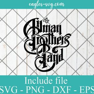 The Allman Brothers Band svg, Music Rock Band Logo Svg for cricut